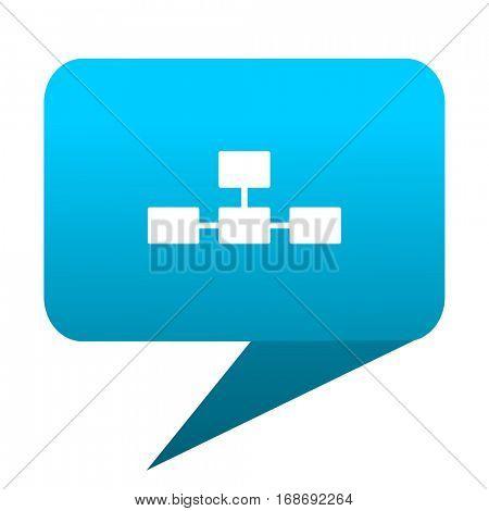 database blue bubble icon