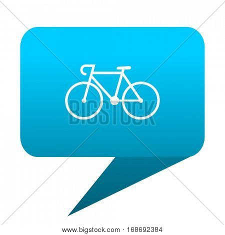 bicycle blue bubble icon