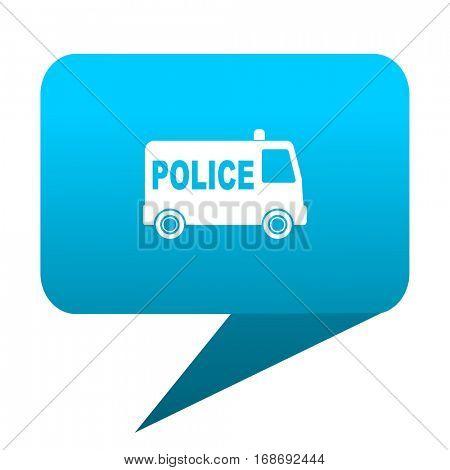 police blue bubble icon