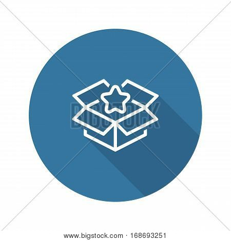 Business Packing Icon. Flat Design Isolated Illustration. App Symbol or UI element. Business Advantages or Product packaging in a box.