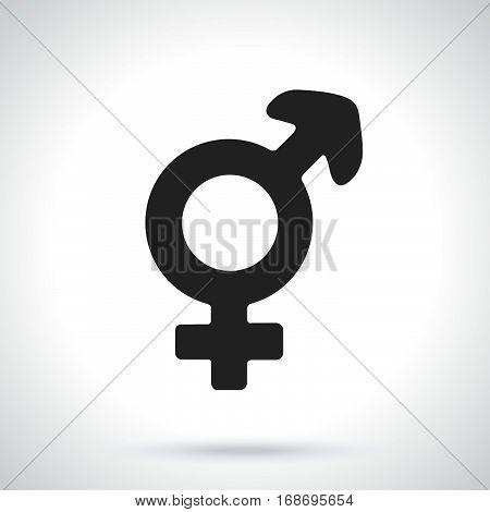 Vector illustration. Silhouette of transgender or hermaphrodite symbol. Gender pictogram. Template or pattern. Decoration for greeting cards wallpapers emblems