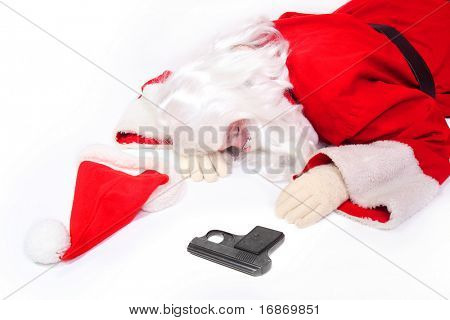Deadly Santa Claus - business metaphor - conceptual image poster