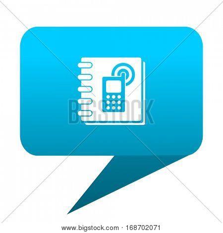 phonebook blue bubble icon