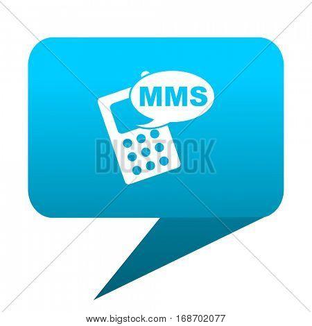 mms blue bubble icon