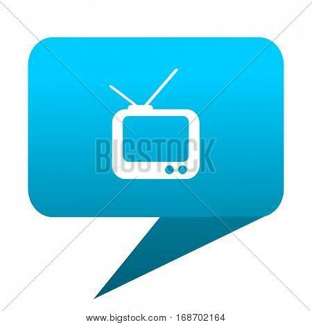 tv blue bubble icon