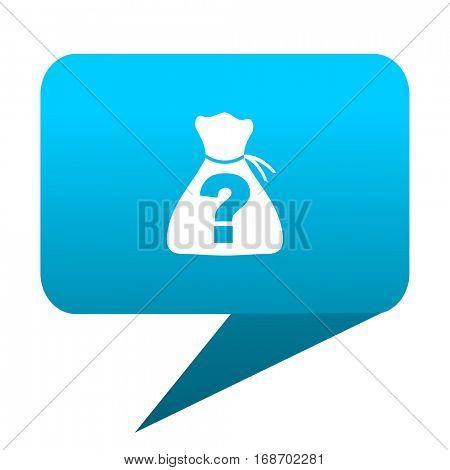 riddle blue bubble icon