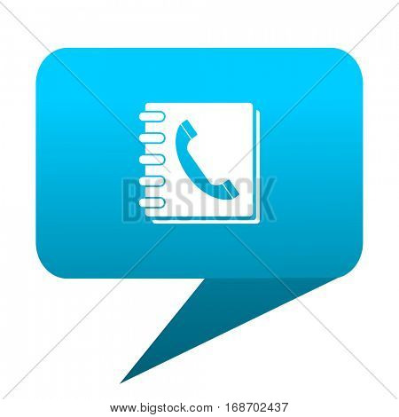 phonebook blue bubble icon
