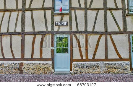 Bois Heroult France - june 23 2016 : the picturesque city hall