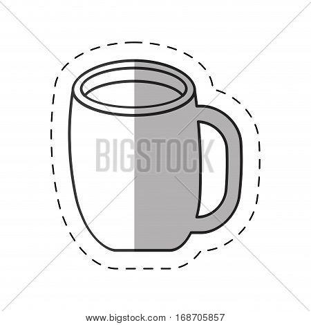 cup coffee hot latte espresso cut line vector illustration eps 10