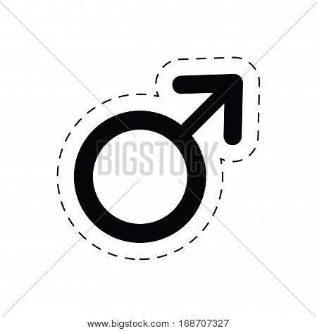 male gender symbol sex pictogram cut line vector illustration eps 10