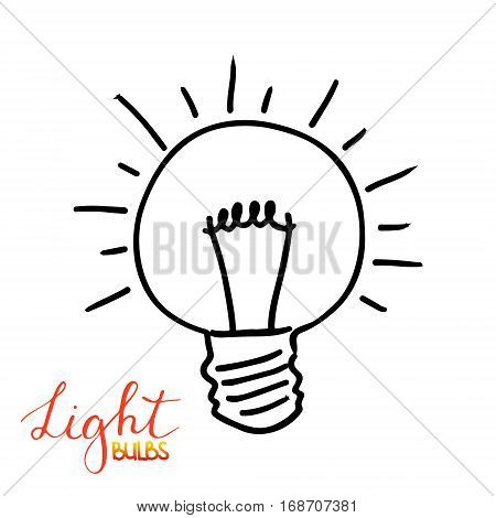 Light bulb icon. Concept of big ideas inspiration, innovation, invention, effective thinking. Isolated. Vector illustration.  Idea symbol