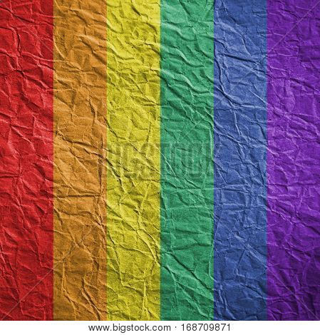 LGBT flag on textured background