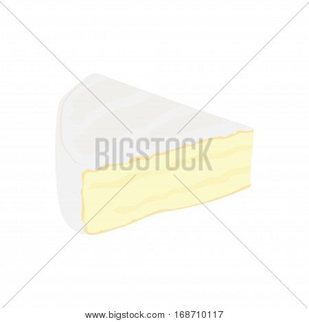 Brie cheese flat icon. vector illustration on a white background