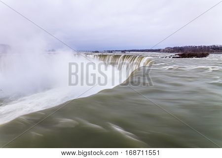 View of Niagara Falls during winter, Ontario, Canada