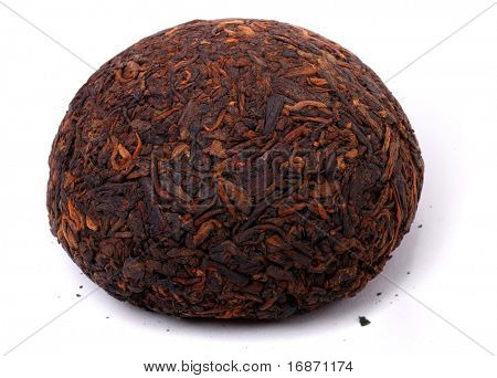 Aromatic black pu-erh tea from yunnan province in China. Leaves undergoes double fermentation and convex knob-shaped. Healthy hot drink, natural anti-biotic medicine.