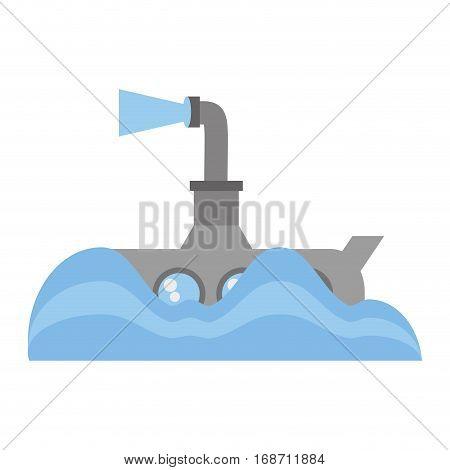 submarine periscope underwater ocean vector illustration eps 10