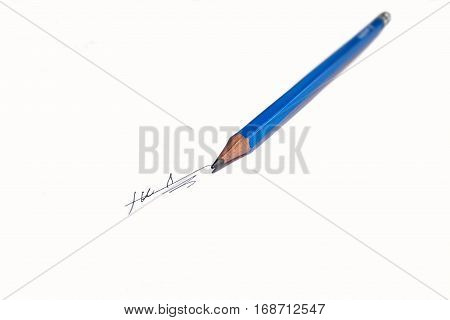 slate pencil on a white background isolated