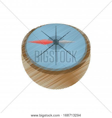 drawing compass marine localization tool vector illustration eps 10