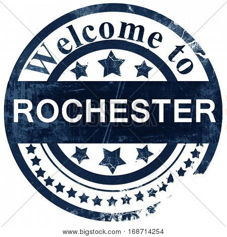 rochester stamp on white background