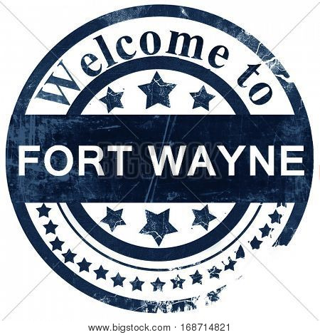 fort wayne stamp on white background
