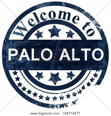 palo alto stamp on white background