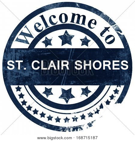 st. clair shores stamp on white background
