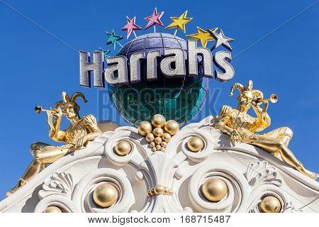 Las Vegas, Nevada, USA 8.01.2013 Harrah's Las Vegas is a luxury resort and casino on Las Vegas Strip