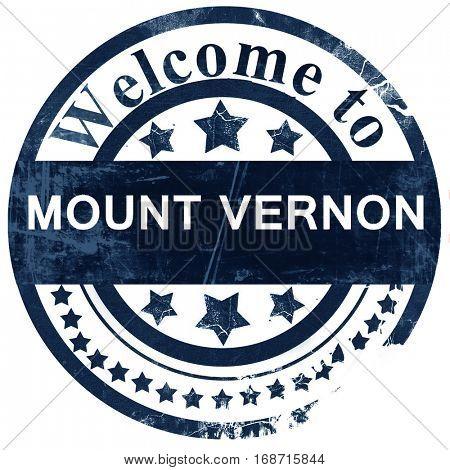 mount vernon stamp on white background