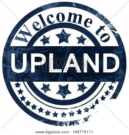 upland stamp on white background
