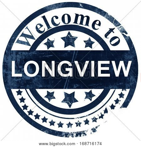 longview stamp on white background