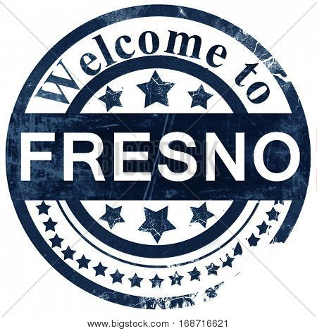 fresno stamp on white background
