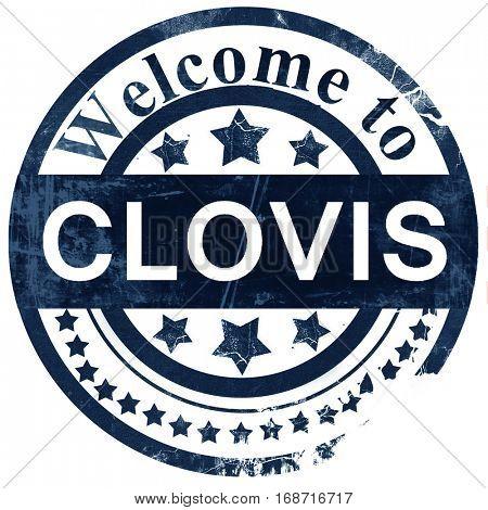 clovis stamp on white background