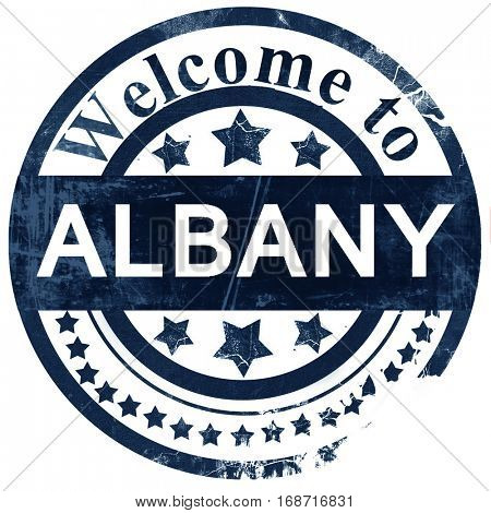 albany stamp on white background