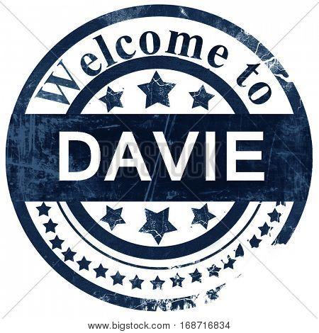 davie stamp on white background