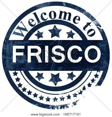frisco stamp on white background