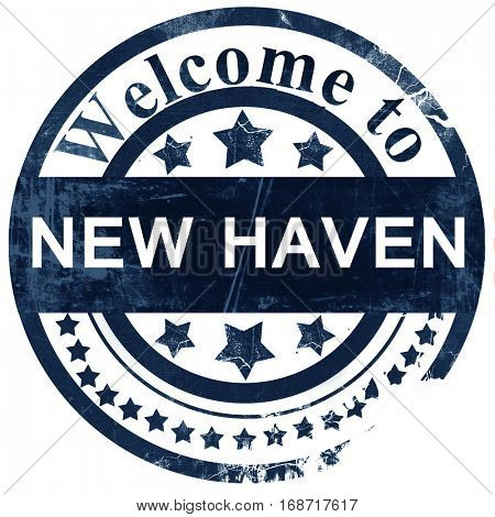new haven stamp on white background