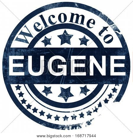 eugene stamp on white background