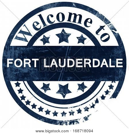 fort lauderdale stamp on white background