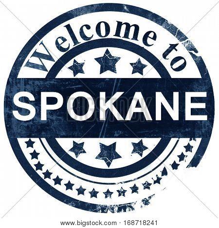 spokane stamp on white background