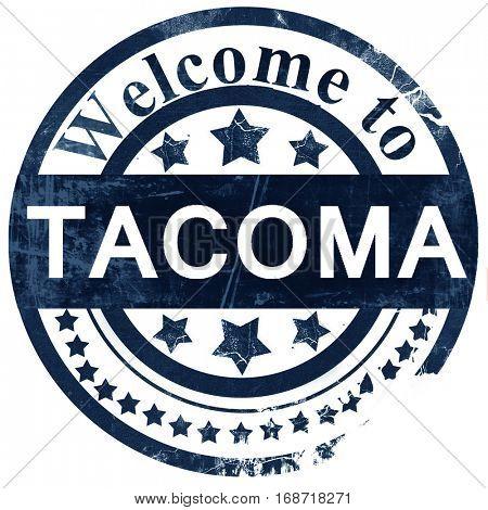 tacoma stamp on white background
