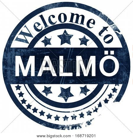 Malmo stamp on white background