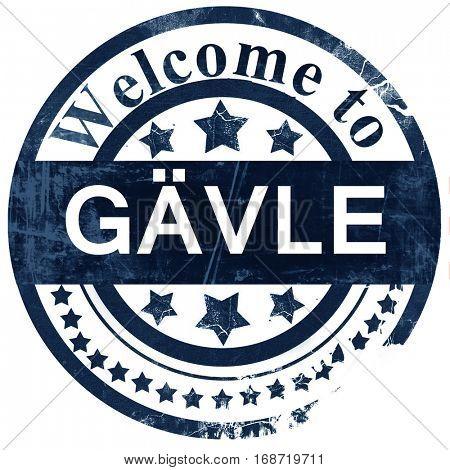 Gavle stamp on white background