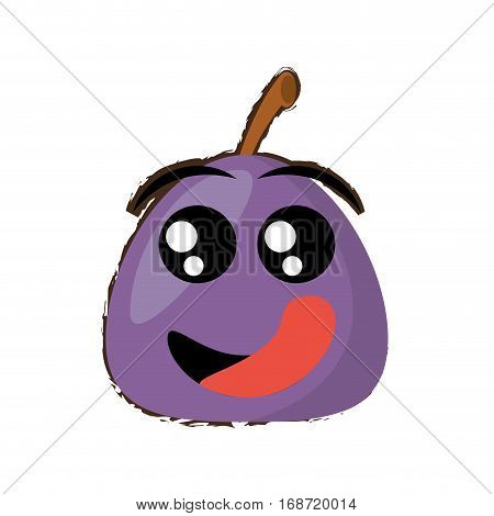 turnip expressions hungry face icon, vector illustration