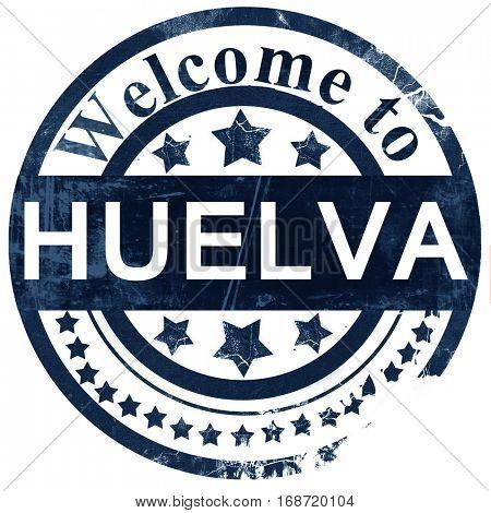Huelva stamp on white background