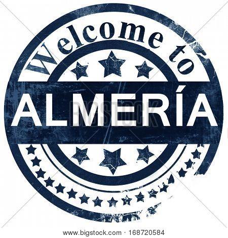 Almeria stamp on white background
