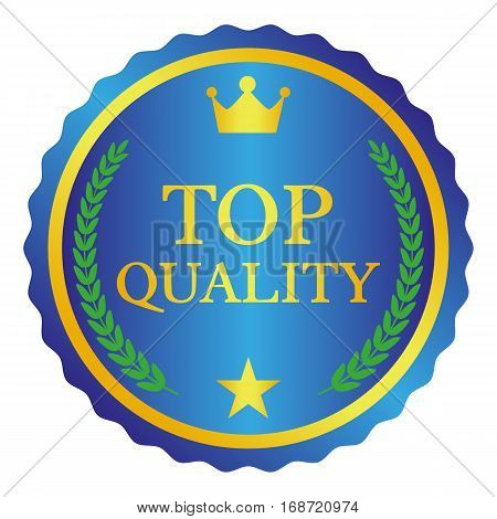 Top Quality Label On White Background. Vector Illustration