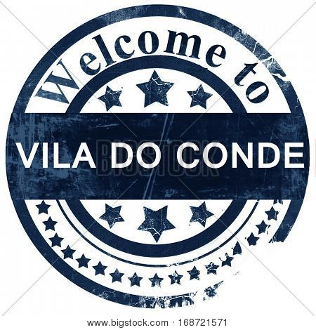 Vila do conde stamp on white background