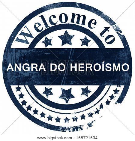 Angra do heroismo stamp on white background