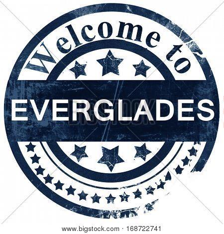 Everglades stamp on white background