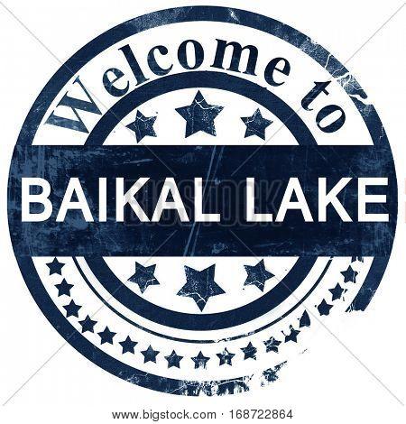Baikal lake stamp on white background